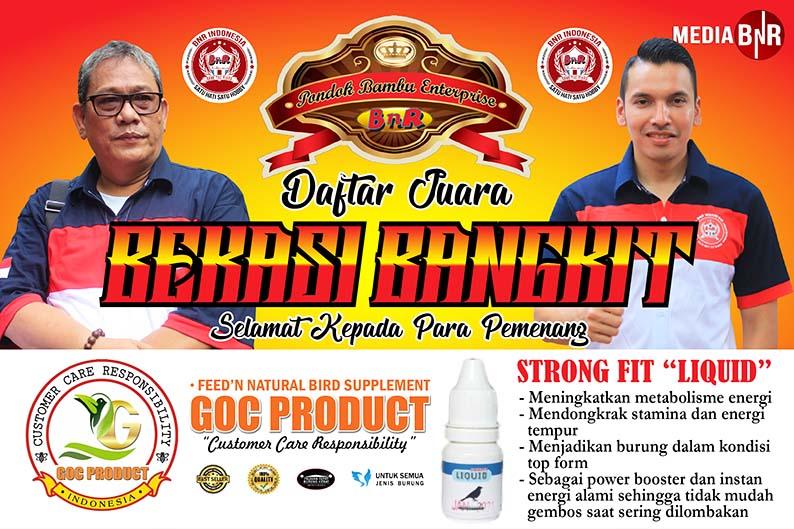 """Daftar Juara BnR Prasetya """"Bekasi Bangkit"""" (12/5/2019)"""
