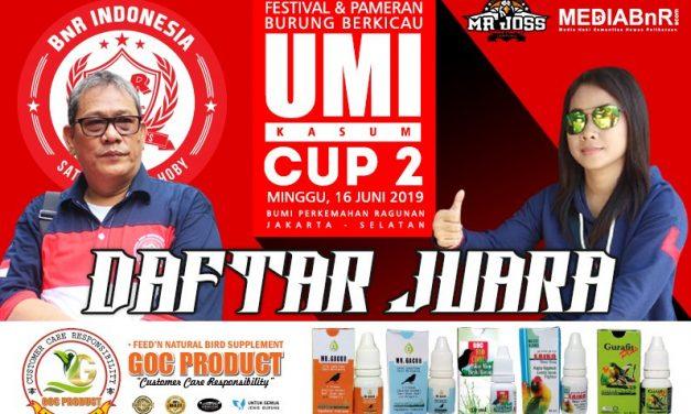 Daftar Juara Umi Kasum Cup II – 2019