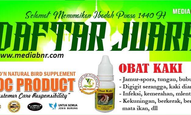 DAFTAR JUARA LATBER NEW LENGGANG JAKARTA ENTERPRISE FEAT IBI (18/05/2019)