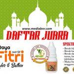 Daftar Juara Latber Spesial Halal Bihalal KMC BC – Cepiring (13/6/2019)