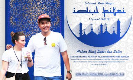 Gentur Prakoso & Aisha G.B : Selamat Hari Raya Idul Fitri 1440 H, Mohon Maaf Lahir dan Bathin