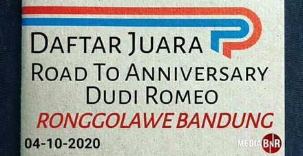 DAFTAR JUARA ROAD TO ANNIVERSARY DUDI ROMEO RONGGOLAWE CIGERELENG BANDUNG 04-10-2020