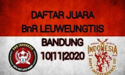 DAFTAR JUARA LATPRES EXCLUSIVE BnR LEUWEUNGTIIS BANDUNG 10-11-2020