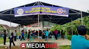 suasana gantangan lapangan BnR Lampung yang berlokasi di Tanjung Gading Bandar Lampung