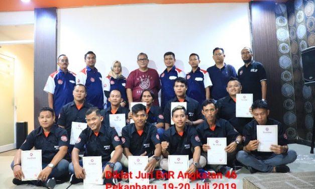 Diklat Angkatan 46 Pekanbaru Ditutup BnR Satoe