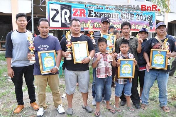 5 Burung Terbaik, lomba ZR Expedisi Cup 2016, Banjarbaru  Kalsel