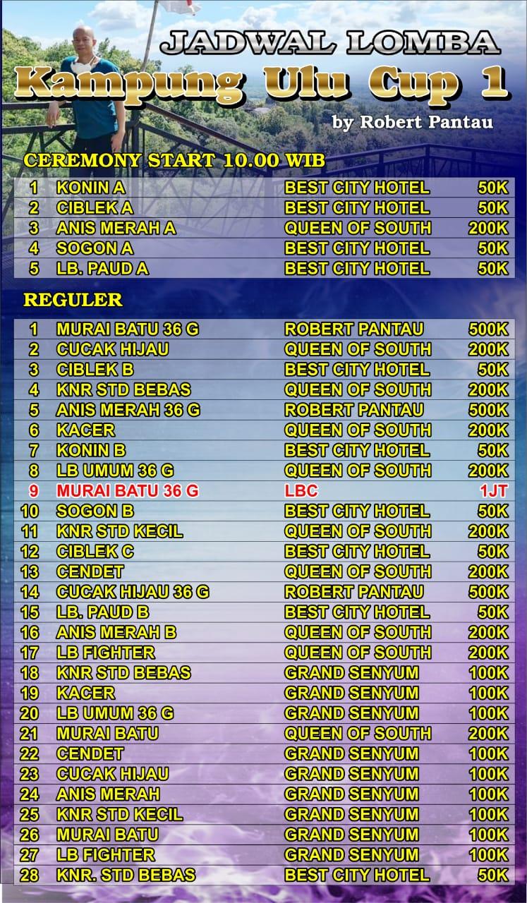 Jadwal Lomba Kampung Ulu Cup I Magelang