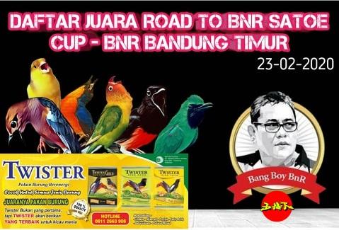 DAFTAR JUARA ROAD TO BnR SATOE CUP 1 – BnR ZIPUR BANDUNG TIMUR