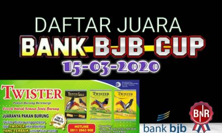 DAFTAR JUARA BANK BJB CUP 2020 – BANDUNG 15-03-2020