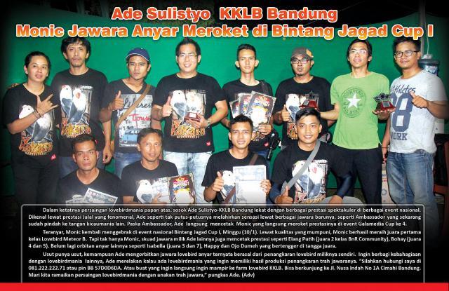 Monic Jawara Anyar Meroket di Bintang Jagad Cup I