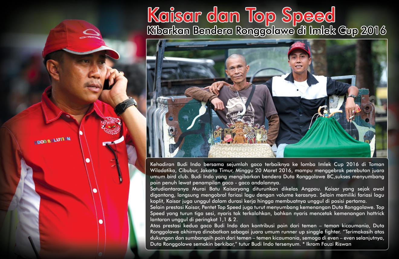Kaisar dan Top Speed Kibarkan Bendera Ronggolawe di Imlek Cup 2016