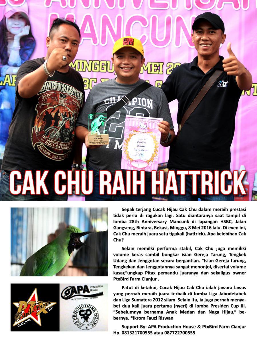 Cak Chu Raih Hattrick