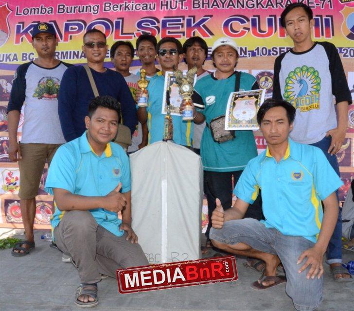 Aba Win Bersama Crew PBC Team Cerme Gresik juga hantar Arjuna dipodium utama kelas kenari B