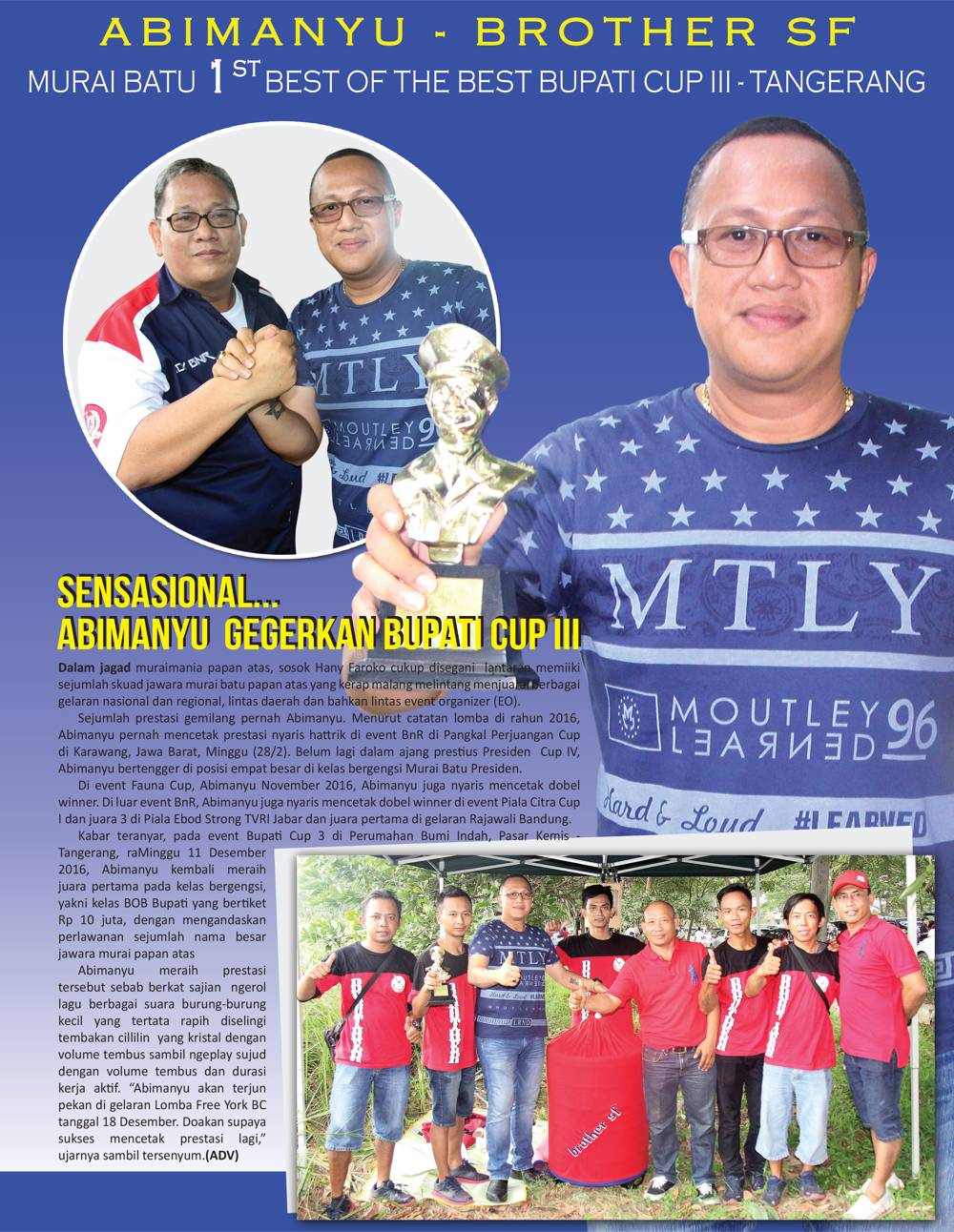 Abimanyu – Brother SF, Best Of The Best Bupati Cup 3 – Tangerang