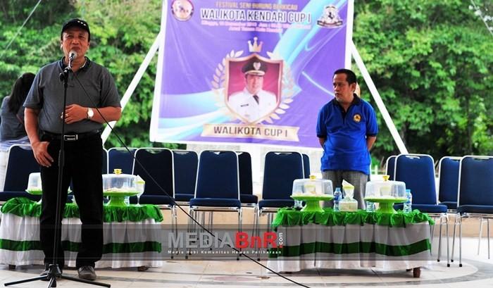 Alamsyah Lotunani Mewakili Walikota Sulawesi Tenggara Membuka Pameran Burung Berkicau Walikota CUP Kendari