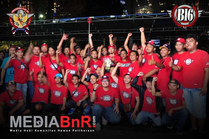 B16-TEAM - Juara Umum BC Presiden Cup IV