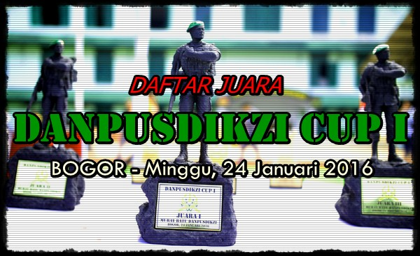 Daftar Juara DANPUSDIKZI CUP I  (24/01/2016)