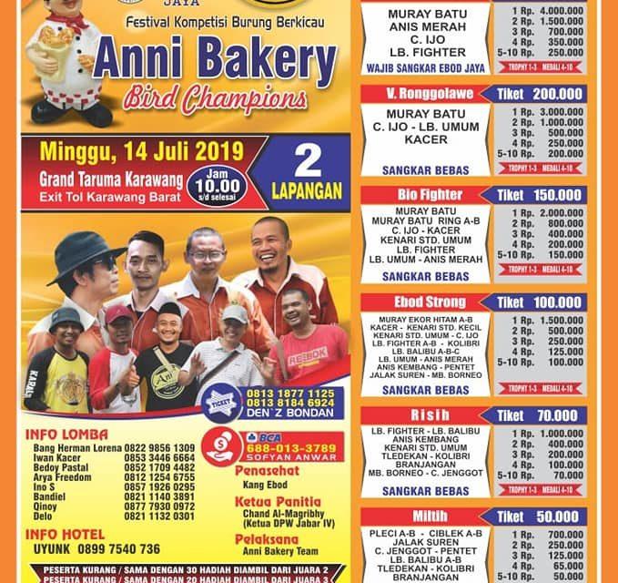 Jelang Anni Bakery Bird Champion – Dibuka 2 Lap, Sisa Tiket Sudah Menipis, Kelas Kacer Full Booking