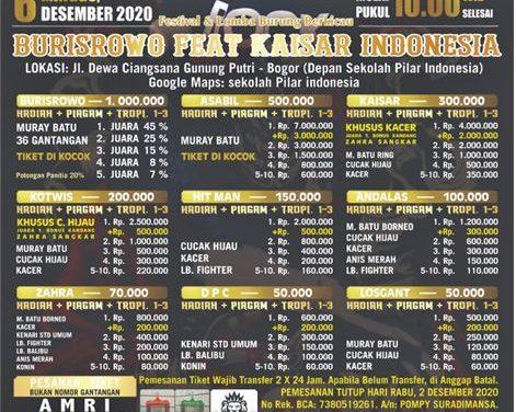 BURISROWO FEAT KAISAR INDONESIA – Pompy Mbink Undang Kicaumania Jabodetabek dan Luar Kota