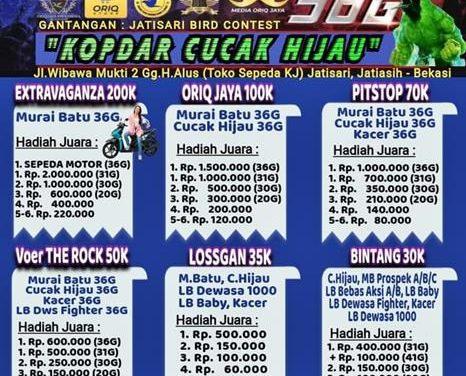 ROAD TO PIALA EXTRAVAGANZA – Kopdar Cucak Hijau Berhadiah Motor