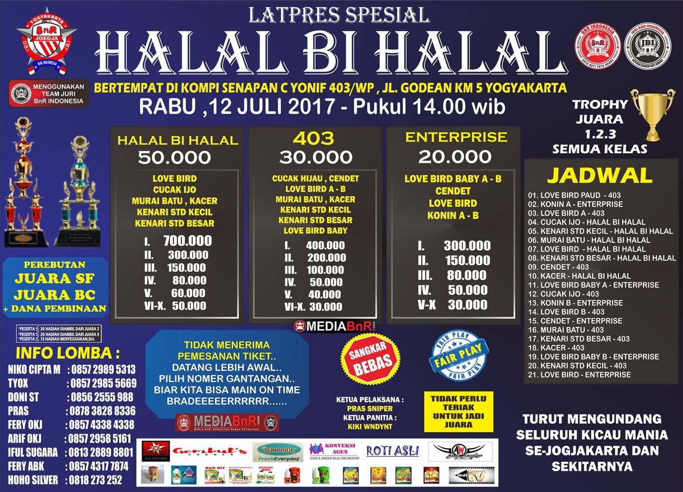 BROSUR LATPRES HALAL BI HALAL 403 enterprise bnr jogja