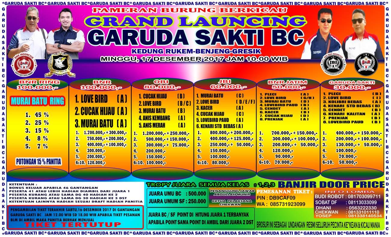BROSUR LAUNCING Garuda sakti bc 17 des