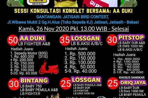 Jelang One Day Love Bird JBC Jatisari – Final Liga Poin BC & SF, Tiket 50 Ribu Hadiah Motor