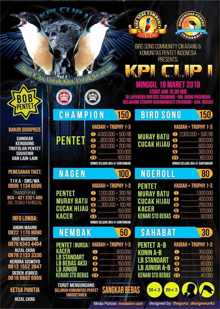 KPI Cup 1 Cikarang : Ajang Silaturahmi Pentet Mania se – Jawa dan Bali