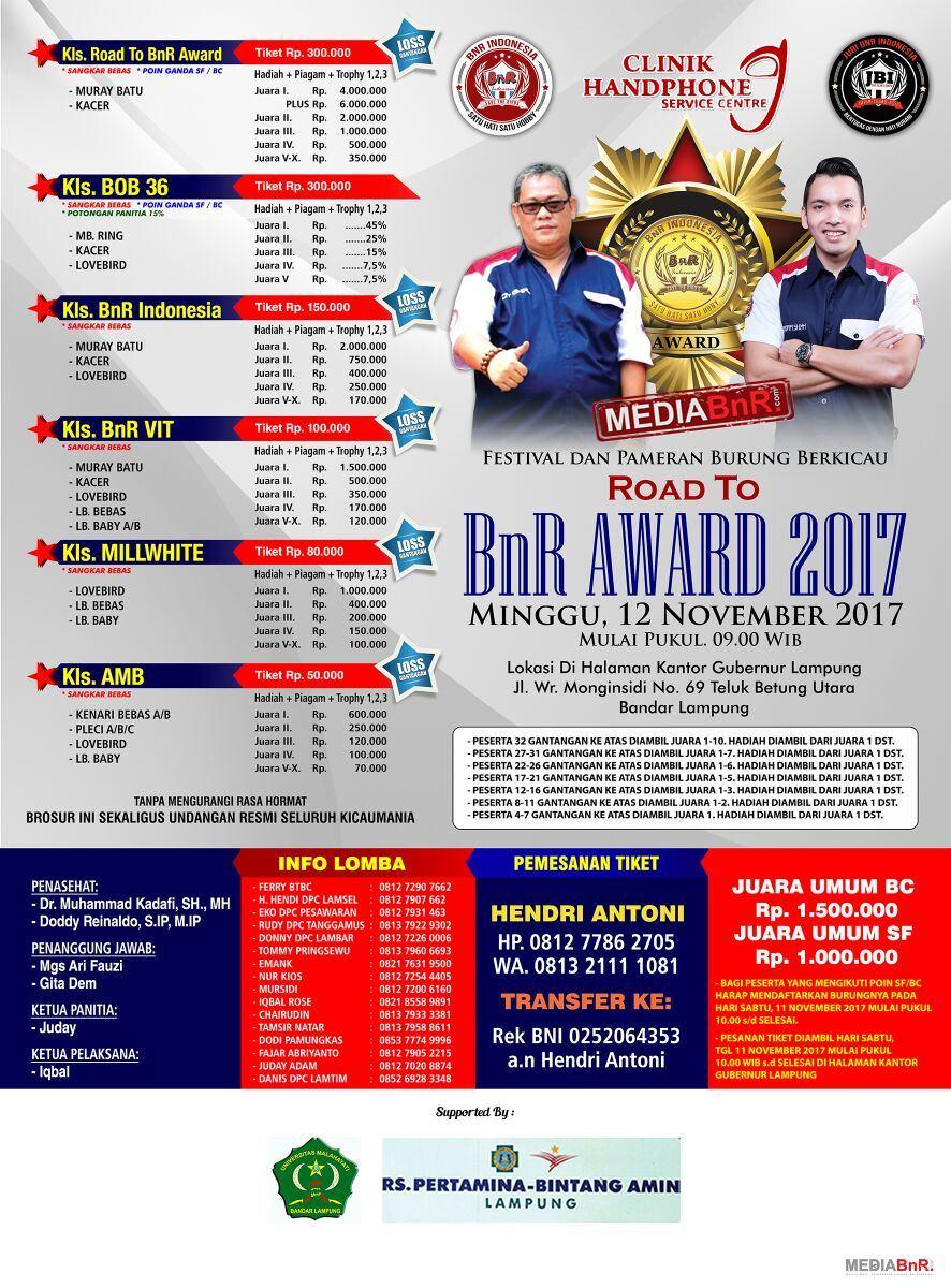 BRosur Road to bnr award 2017 lampung