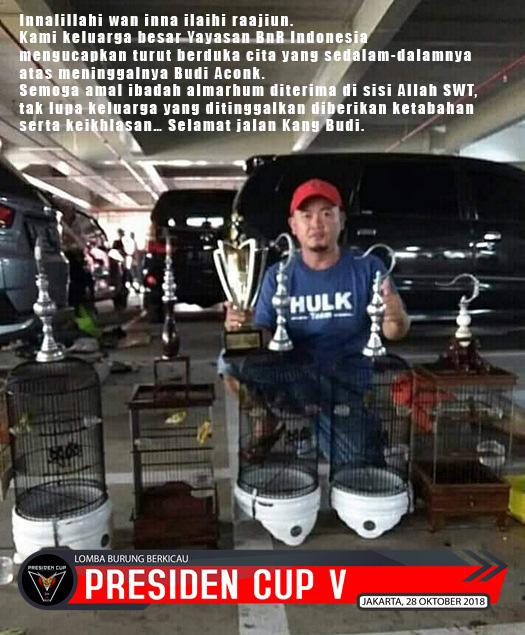 Di Bandung Aconk mencetak harapan, di Jakarta ia meninggalkan kita..