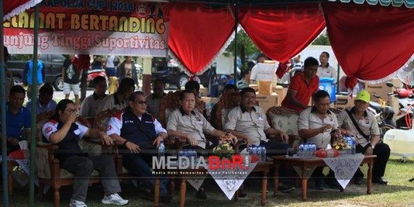Bang Boy Bersama Elit BnR Kalteng dan Pejabat di Polda Kalteng