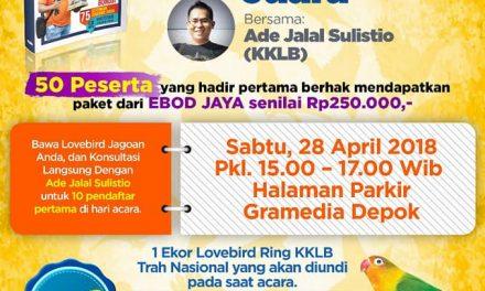 "Bedah Buku & Coaching Clinic 2 ""Ade Sulistio"" 28 April 2018 Di Gramedia Depok"
