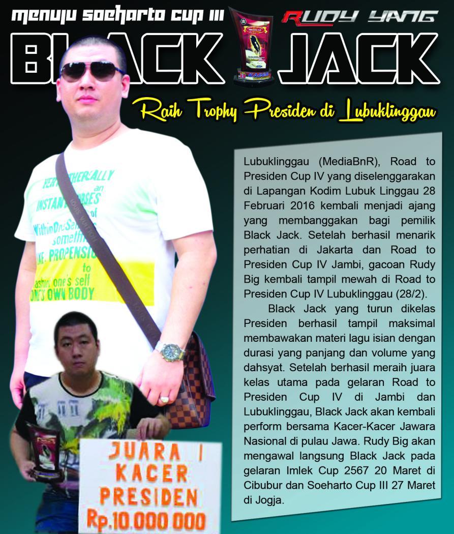 """Menuju Soeharto Cup """"Black Jack Raih Trophy Presiden di Lubuklinggau"""""""