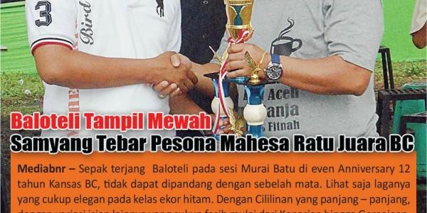 Boni Mahesa Ratu advertorial tabloid bnr mediabnr