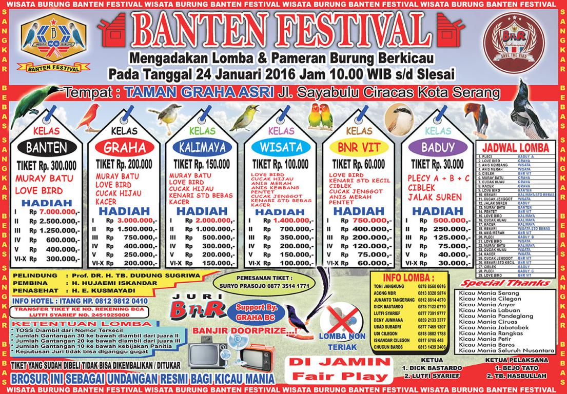 Brosur BANTEN FESTIVAL 24 jan 2016