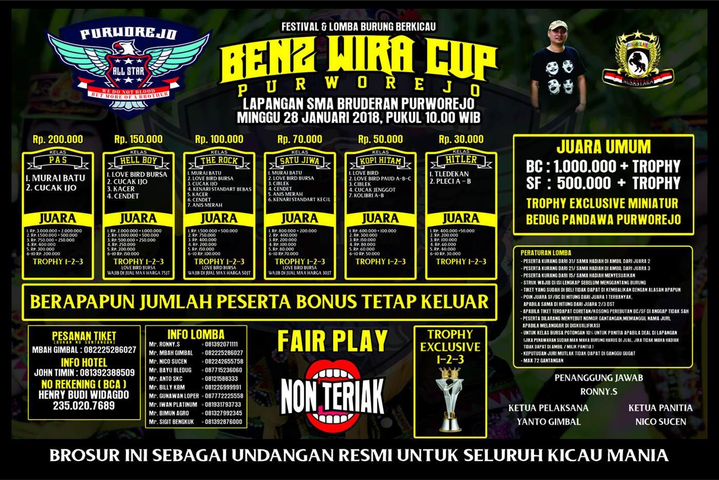 Brosur BENZ WIRA CUP Purworejo, 28 Januari Revisi