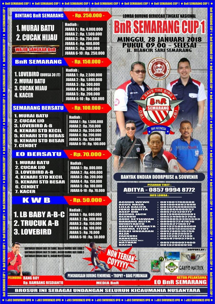 Brosur BnR Semarang Cup