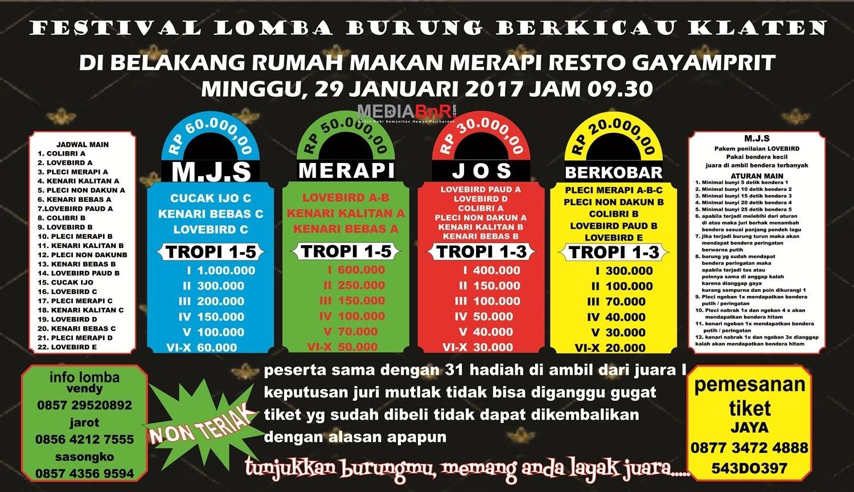 Brosur Festival MJS Klaten 29 Januari 2017