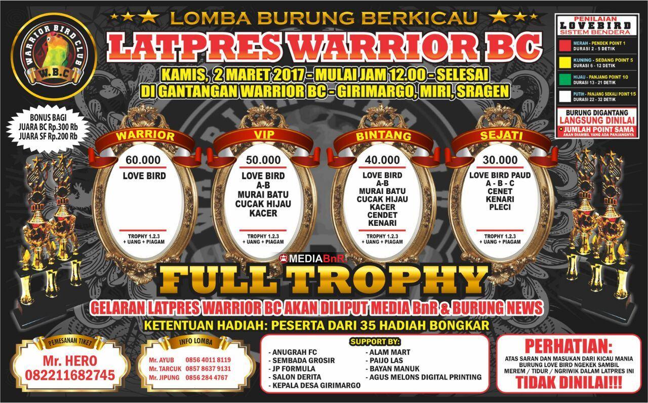 Brosur Latpres Warrior BC 2 Maret 2017