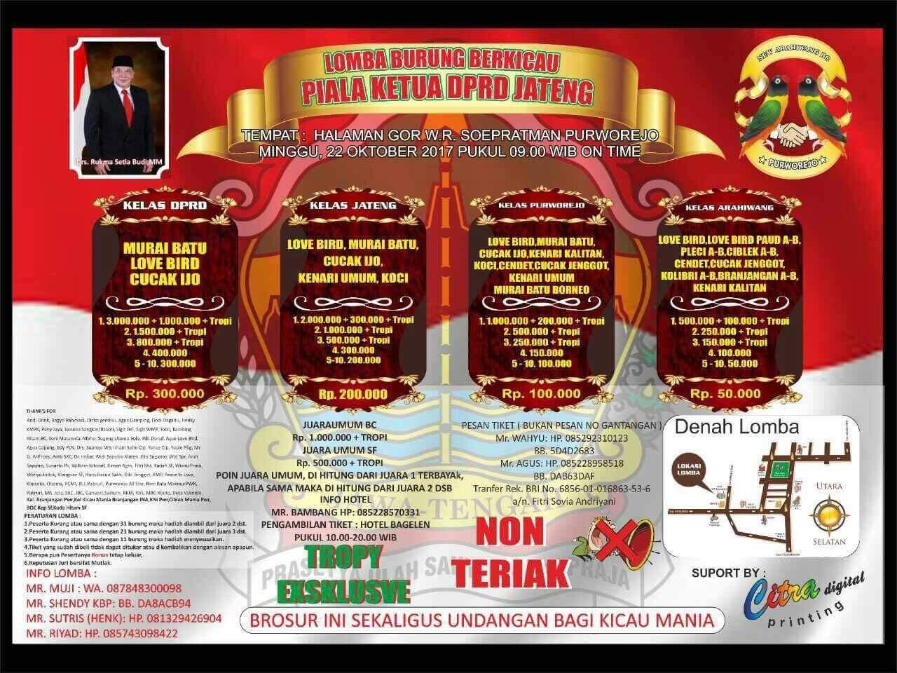 Brosur Piala Ketua DPRD Jateng