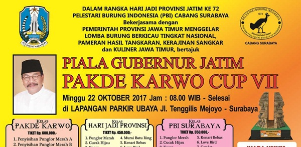 Data Pemesan Tiket Pakde Karwo Cup VII