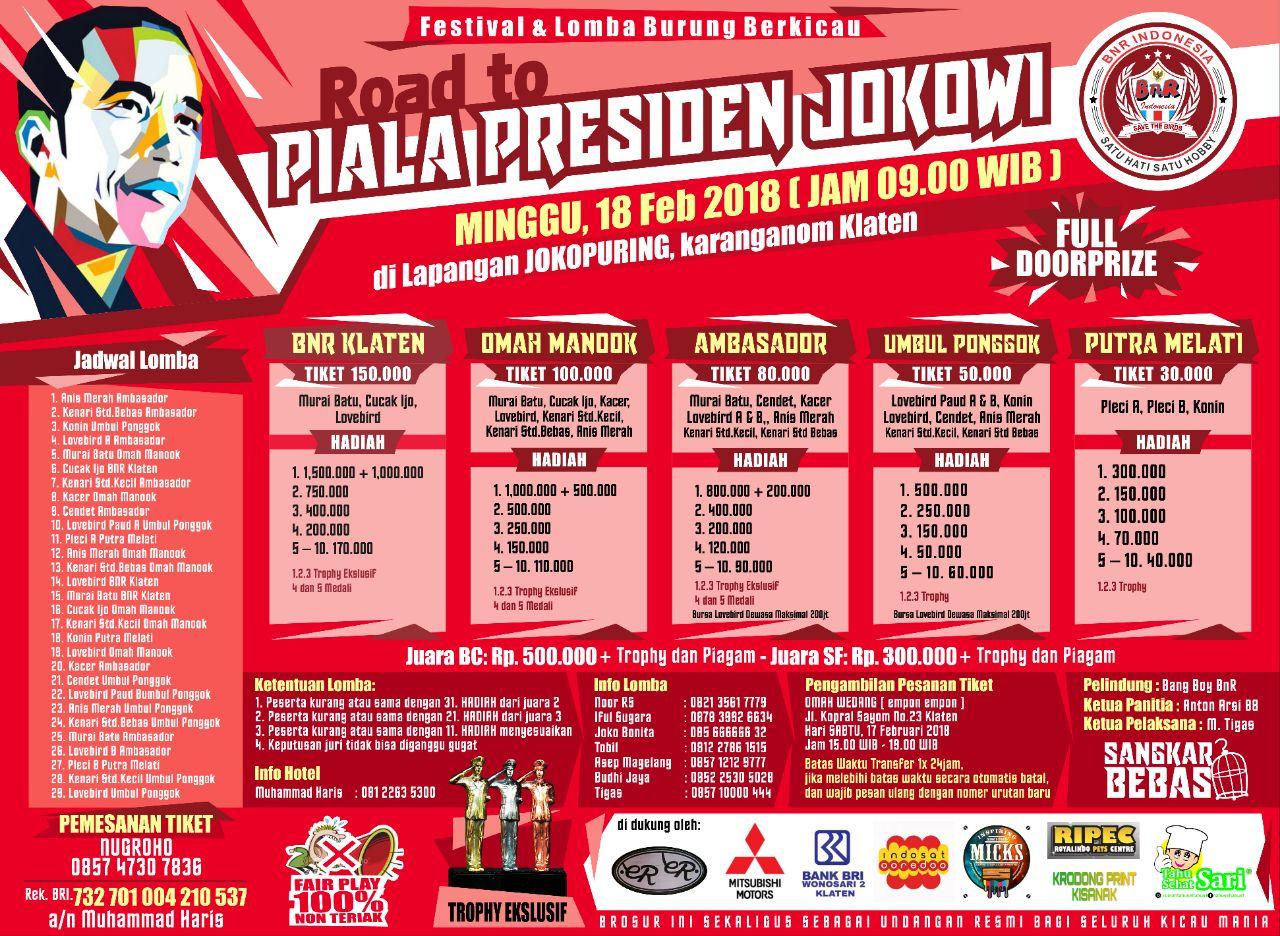 Brosur Road To Piala Presiden Jokowi