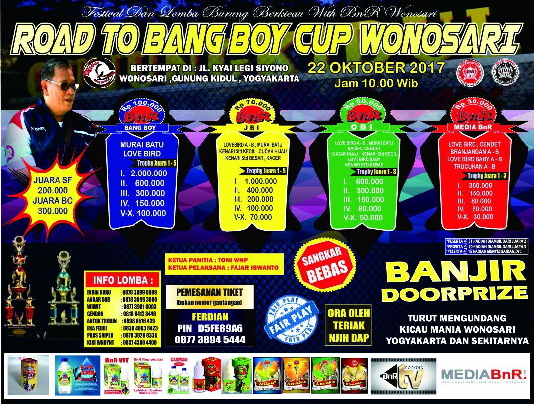 Brosur Road to Bang Boy Cup 1 Wonosari Yogyakarta