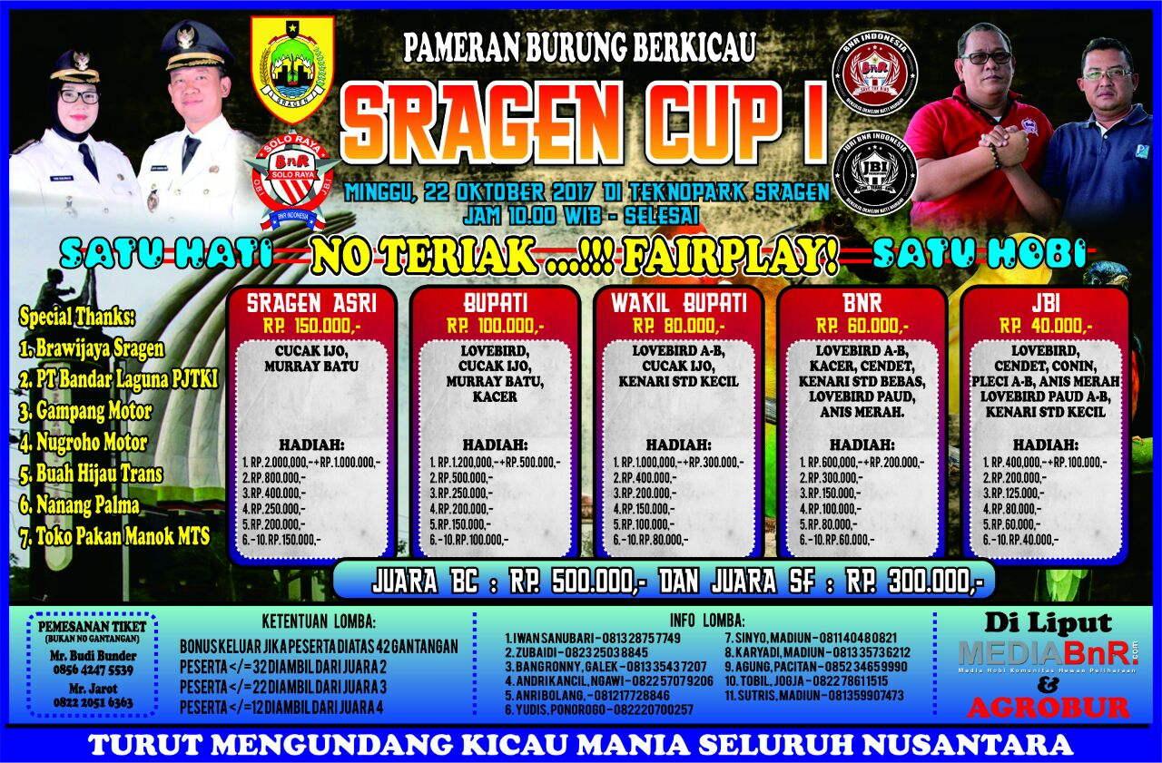 Brosur Sragen Cup 22 Oktober 2017