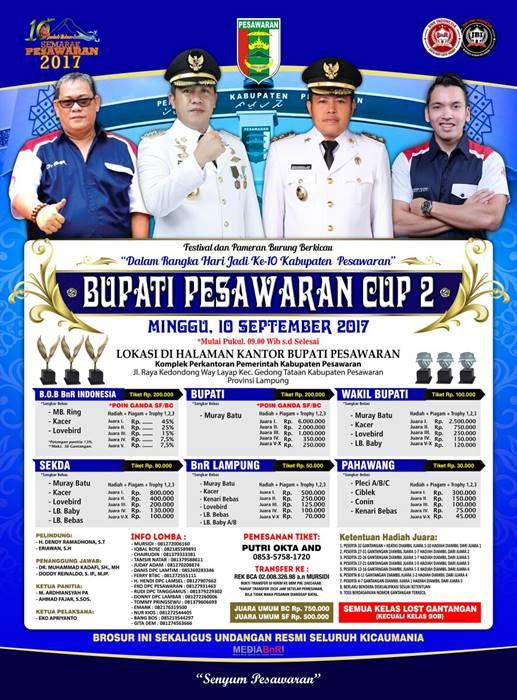 Bupati Pesawaran Cup Jillid II Siap Menjadi Wadah Kicau Mania Silaturahmi dan Ukir Prestasi