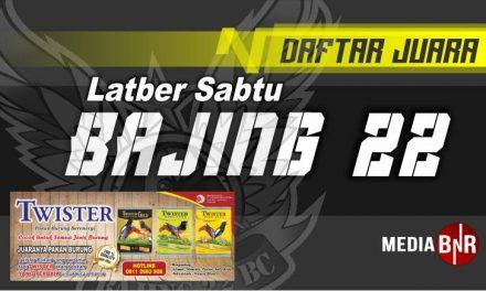 DAFTAR JUARA LATBER SPESIAL BAJING 22 (04/07/2020)