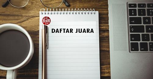 DAFTAR JUARA LATBER BNR MUTIARA ENT SELASA (6/4)