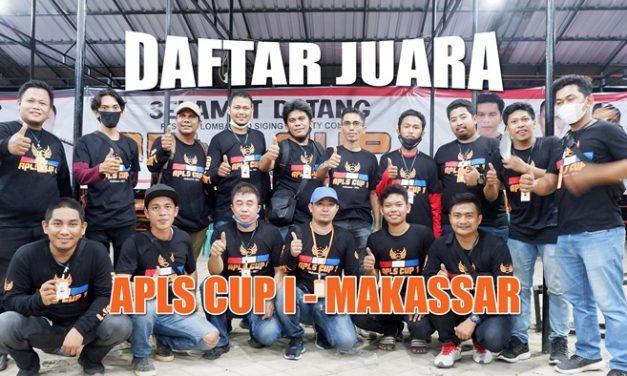 DAFTAR JUARA APLS CUP 1 – MAKASSAR (06/06)