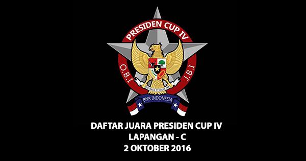 Daftar Juara Presiden Cup IV – 2016 (LAP-C)