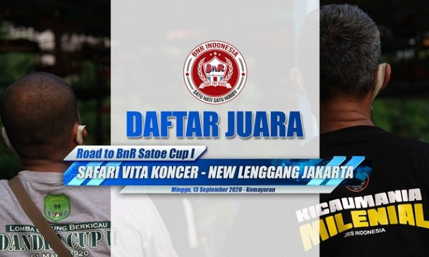 Daftar Juara Lomba Safari Vita Koncer New Lenggang Jakarta (13/09)